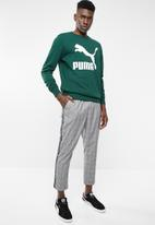 PUMA - Classics logo crew long sleeve - green