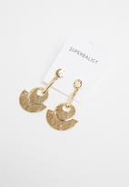 Superbalist - Madison hammered earrings - gold