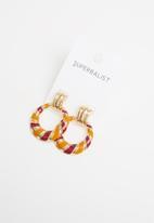 Superbalist - Macy earrings - orange & purple