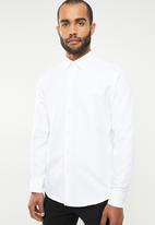 POLO - Formal lounge shirt - white
