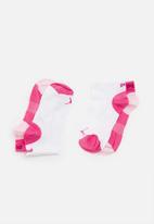 PUMA - Girls secret sock puma - white & pink