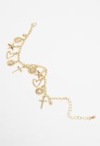 Superbalist - Multi charm bracelet - gold