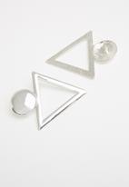 Superbalist - Triangular drop earrings - silver