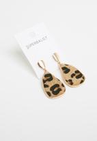 Superbalist - Leopard print earrings - multi