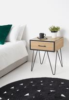 Sixth Floor - Penn 1-drawer bedside table - natural