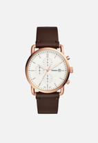 Fossil - Commuter chrono - brown