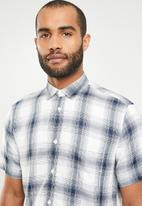 Only & Sons - Samy check shirt - blue & white