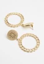 Superbalist - Vintage chain hoop earrings - gold
