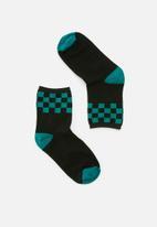 Vans - Cali native sock 1 pack - black & green