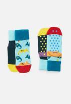 Happy Socks - 2-pack dinosaur anti-slip socks