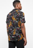 Only & Sons - Pilas tiger viscose shirt - black