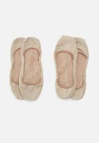 Falke - Invisibles 2 pack socks - beige