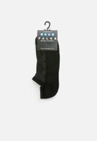Falke - Silver cushion no show socks - black