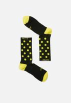 Falke - Everyday sport crew dot - black & yellow