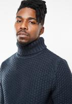 Only & Sons - Turtle neck knit - navy