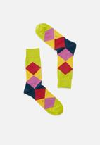 Falke - Fancy argyle socks - green