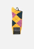 Falke - Argyle socks - yellow
