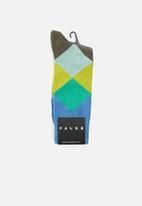 Falke - Fancy argyle socks - blue