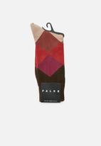 Falke - Fancy argyle socks - brown