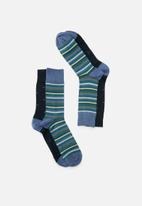 Falke - Quantum & sensitive stripe gift box - multi