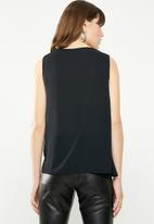 STYLE REPUBLIC - Drape detail blouse - black