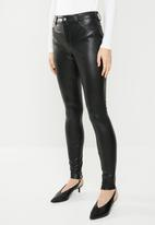 ONLY - Molly faux leather pants - black
