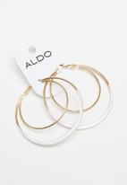 ALDO - Patzer earrings - white & gold