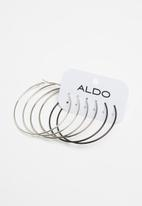 ALDO - Astusa1 earrings - black & silver