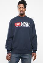 Diesel  - S-crew-division sweater - navy