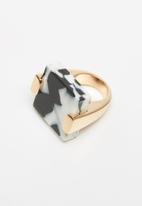 ALDO - Crelacie ring - white & black