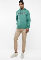 Hurley - Surf check one & only pop hoodie - green