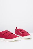 Cotton On - Canvas double strap plimsoll - pink