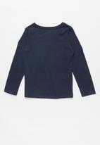 GUESS - Long sleeve leaf tri tee - navy