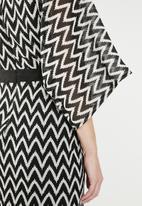 edit - Contrast midi dress - black & white