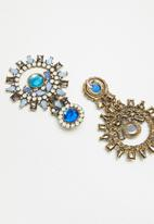 STYLE REPUBLIC - Round statement earrings - blue