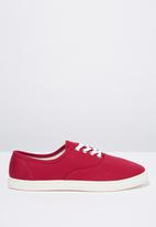 Cotton On - Textile plimsoll - pink