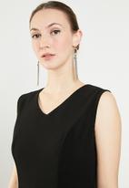 edit - Maxi fit & flare dress - black