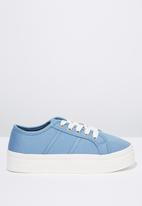 Cotton On - Canvas platform sneaker - blue