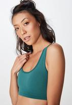 Cotton On - Workout cardio crop  - green