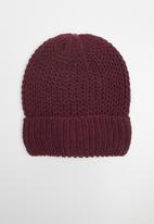 Jack & Jones - Jacmellow knit beanie - burgundy