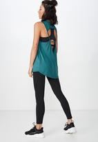 Cotton On - Open back strappy tank  - green