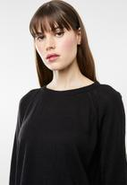 Jacqueline de Yong - Pandora longsleeve pullover knit - black