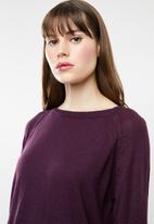 Jacqueline de Yong - Pandora longsleeve pullover knit - purple