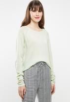 Jacqueline de Yong - Pandora longsleeve pullover knit - green