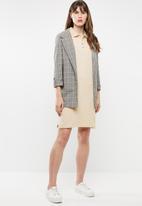 POLO - Amy jacquard collar golfer dress - neutral