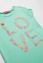 POP CANDY - Girls Love Printed Tee - mint