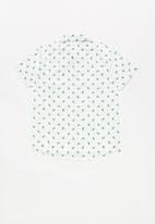 POP CANDY - Cactus print short sleeve shirt - white/green