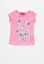 POP CANDY - Baby Girls Sleeveless Printed Tee - pink