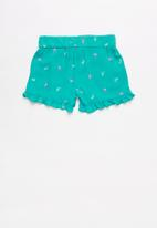 POP CANDY - Girls flouncing rayon shorts - blue