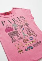 POP CANDY - Baby Girls Paris Printed Tee - pink